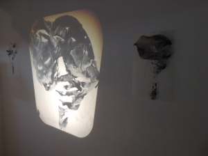 Chloe Reid, 'Imprint', 2014. Ink on transparency projection, overhead projector.