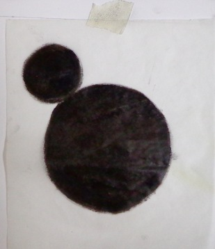 Drawing Wk 3 #8. Black oil stick on butter paper.